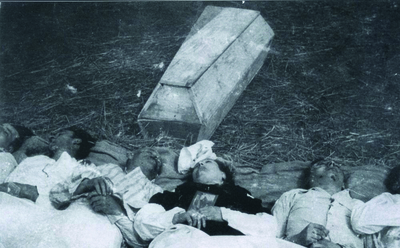 Chobułtowa pow włodzimierski. Zamordowana rodzina Rudnickich. Fot. AIPN