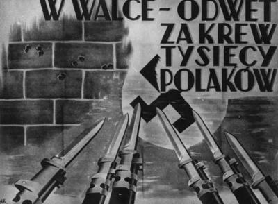 Plakat wzywający do powstania (fot. AIPN)