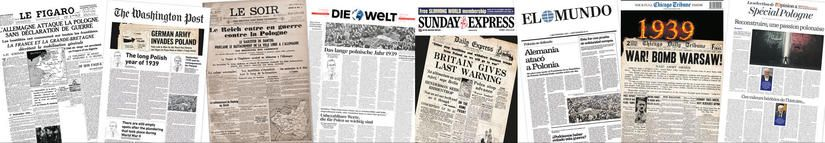 World newspapers' front pages