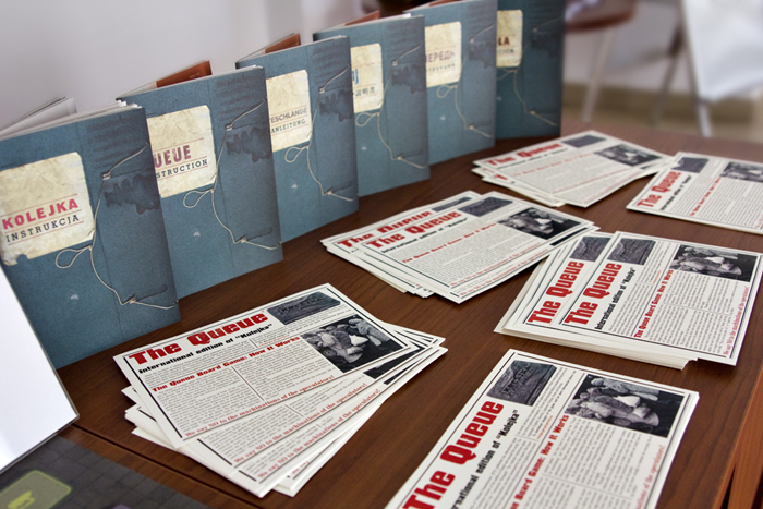 Reception of the IPN's Educational Center stocked with press materials
