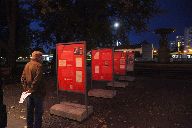 """Echoes of Katyn"" International Film Festival On Totalitarianisms – Warsaw, 22–25 October 2020 IPN's exhibition in front of Muranów cinema"