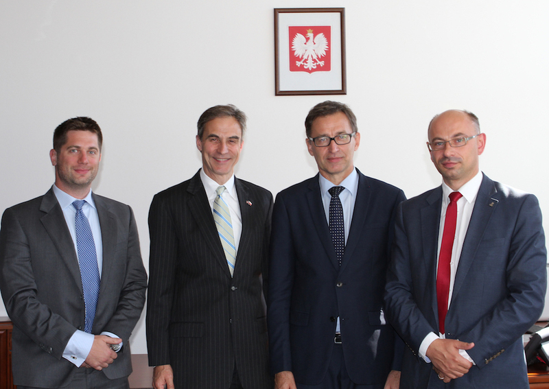 US Ambassador Paul W. Jones, the President of IPN dr Jarosław Szarek,Dr. Mateusz Szpytma, Deputy IPN President and Alexander S. Hughes Second Secretary of the Embassy