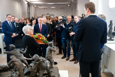 The official opening of the exhibition in Warsaw
