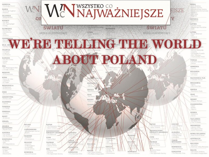 """We Are Telling the World about Poland"" promotional image"