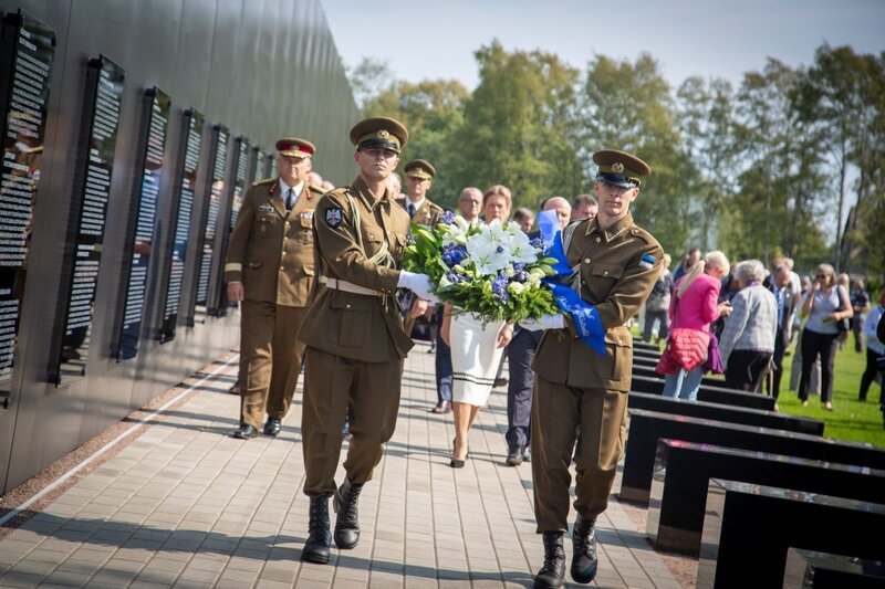 Opening of the memorial to the victims of Communism, Tallinn, Estonia