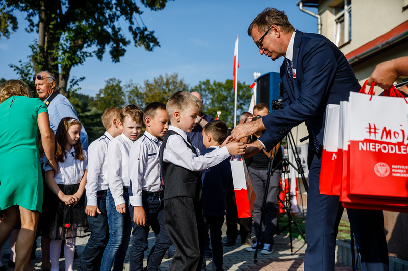 Dr Jarosław Szarek, President of the IPN, during the inauguration of the new school year in Stróża