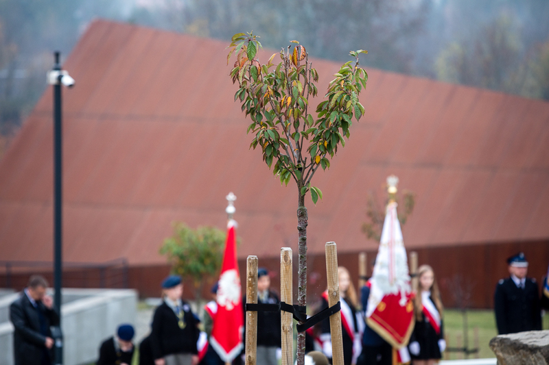 Opening and blessing of the Orchard of Remembrance at the Markowa Ulma-Family Museum– 19 October 2019. Photos: Sławek Kasper (IPN) Opening and blessing of the Orchard of Remembrance at the Markowa Ulma-Family Museum– 19 October 2019. Photos: Sławek Kasper (IPN)