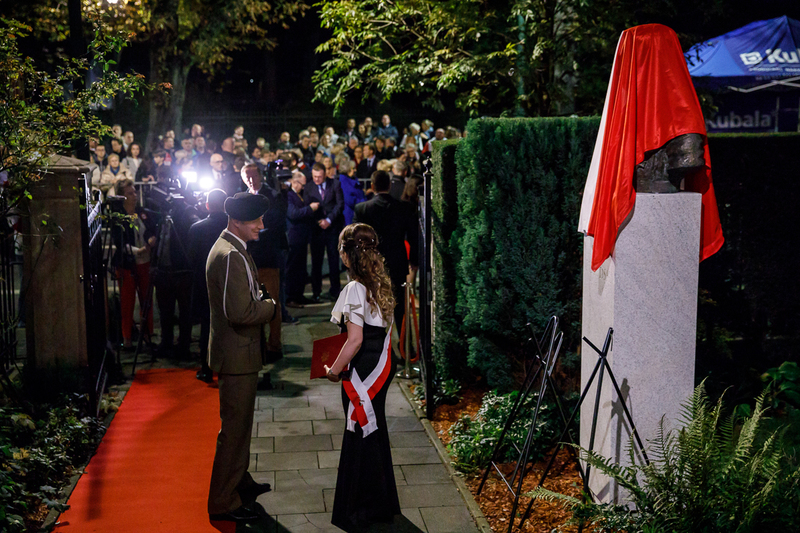 The ceremony of unveiling the Marshal Piłsudski bust in Brussels, 6 November 2018. Photos: Sławek Kasper (IPN)