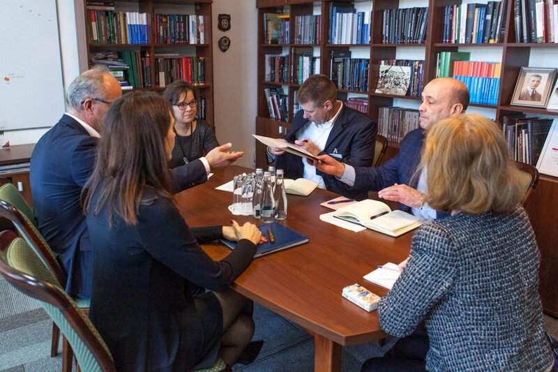 Directors of an American government agency visit Professor Krzysztof Szwagrzyk, Deputy President of the Institute of National Remembrance - 6 November 2018