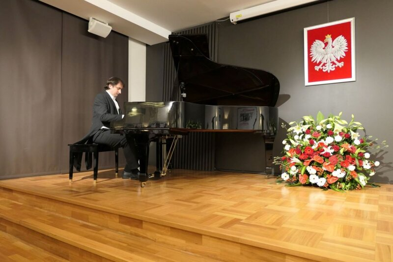 The event included a piano concert. The event included a piano concert.