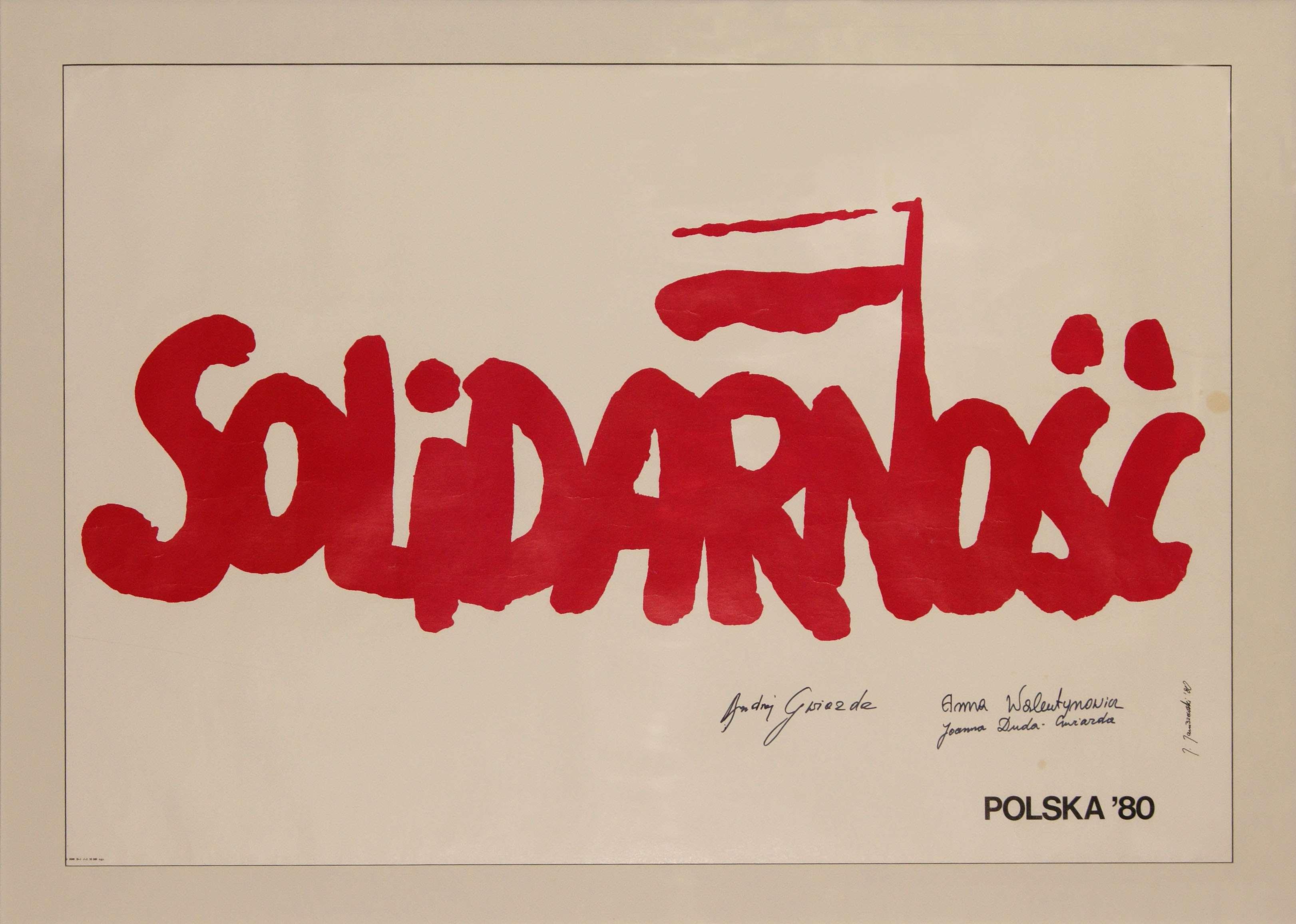 Plakat Solidarność Archiwalia Gdańsk Instytut